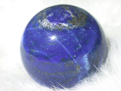 "1.33"" LAPIS LAZULI SPHERE PYRITE CALCITE AZURE  BLUE BALL GR8 4 GIFT"