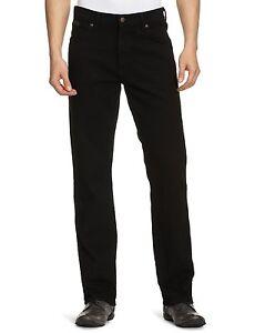 Wrangler-Texas-Stretch-Jeans-New-Men-s-Black-Overdye-Denim-Pants-All-Sizes