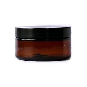 10 X 100ML SIZE AMBER PET PLASTIC JAR WITH (screw) LID Cosmetics DIY Skincare