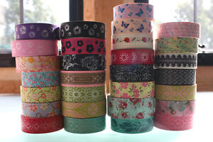 Washi-Floral-Tape-15mmx-10-m-Roll-Decorative-Sticky-Paper-Masking-Tape-Adhesive