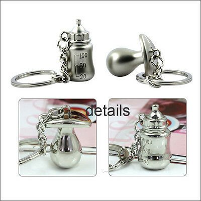 Creative Funny Bottle Nipples Couple Keychain Key Chain Ring Keyring Key Fob