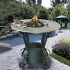 California Outdoor Concepts Solano Bar Height Fire Pit Table With Pebble Granite Top And Black Base