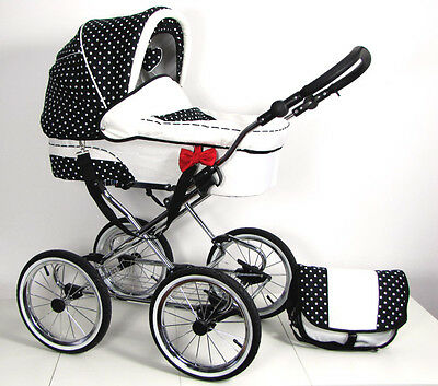 Babybuu Pretty Woman Kombikinderwagen/Kinderwagen klassisch/Retro 3 in 1