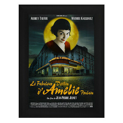 AMELIE Framed French Movie Poster A4 Black Frame Audrey Tautou