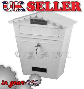 Wall Gate Fence Post Box Letterbox Letter Mail Mailbox