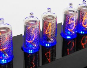 6-IN-8-2-Nixie-tubes-with-blue-LEDs-f-tube-clock-DATECODE-MATCHED-NOS-NEW