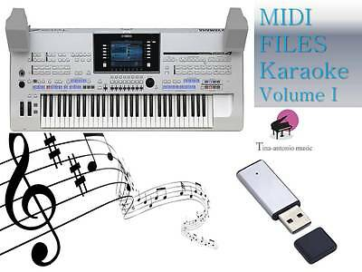 MIDI File Karaoke USB stick for Tyros 4 Vol 1