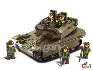 SLUBAN-B-0305-LF2-K-I-Merkava-Tank-Panzer-343-Teile-NEU