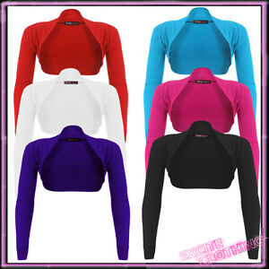 Womens-Plus-Size-Bolero-Cotton-Shrug-Cardigan-Ladies