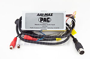 pac aai maz car radio audio auxiliary rca input interface unit for mazda 3 5 6 ebay