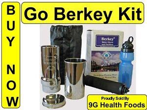 Kit water purification includes sport berkey bottle black filter big