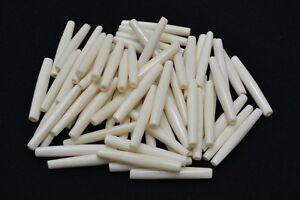 """100 PCS WHITE BUFFALO BONE HAIR PIPE CHOKER BEADS PENDANTS 2"""" #BD-6"""