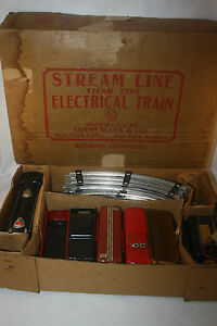 MARX-STREAM-LINE-ELECTRIC-TRAIN-SET-MARLINES-4923-MADE-IN-USA