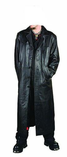 Mens Real Leather Goth Gothic Van Helsing Matrix Trench Coat  Most Sizes