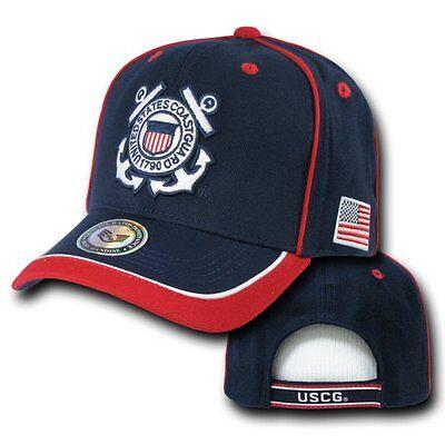 United States USCG US Coast Guard Military Flag Baseball Ball Cap Caps Hat Hats