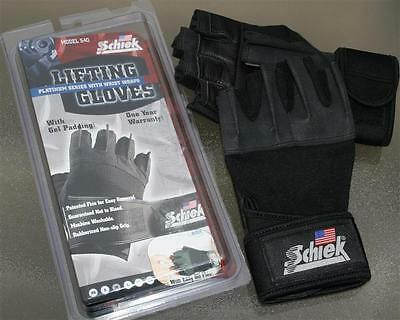 Schiek 540 Platinum Workout Lifting Gloves Wrist Wrap Size Large Weight Lifting