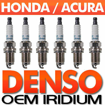 6-PC Acura//Honda SPARK PLUG SET /> Genuine DENSO Iridium Long-Life OEM SPECS 3.5L