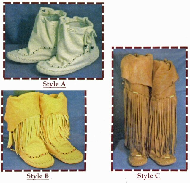 Native American Zuni Indian Moccasin in 3 Styles SparrowHawk Sewing Pattern