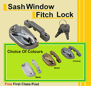 Vertical-Sliding-Sash-Window-Fitch-Lock-White-Gold-and-Chrome