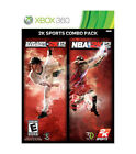 2K Sports Combo Pack: Major League Baseball 2K12/NBA 2K12 (Microsoft Xbox 360, 2012)