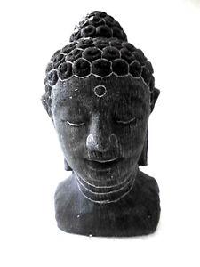 buddha kopf figur aus stein p 003b2 ebay. Black Bedroom Furniture Sets. Home Design Ideas