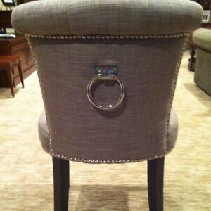 Dining Room Chairs Heather Grey With Silver Studs And