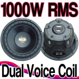 Details about SUBWOOFER LANZAR MAX PRO 15 38 CM MAXP154D 1000 RMS DVC 4 + 4  OHM SOLO 10 PEZZI!