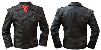 WW2 Repro German Panzer / U-Boat Black Leather Wrap Jacket - All Sizes