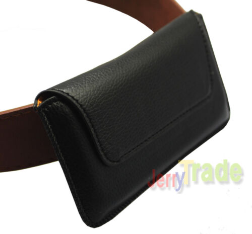 Leather Magnet Holster Belt Loop Skin Case Pouch Pocket for iTouch iPod iPhone 5