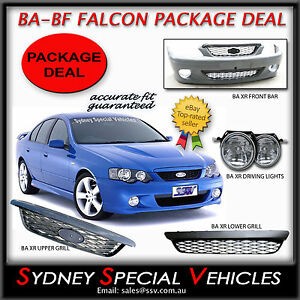 BA-FALCON-XR6-XR8-FRONT-BUMPER-BAR-MESH-GRILLES-FOG-LIGHTS-SEDAN-UTE-XR