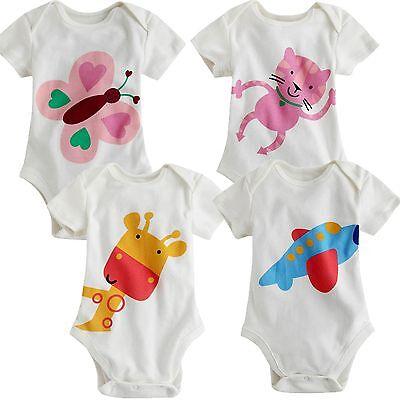 "NWT Vaenait Baby Newborn Infant Girl Boy's One-Piece Bodysuit "" White Bodysuit"""