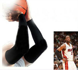 Basketball-Sport-Stretch-Shooting-Arm-Sleeve-Warmer-X-2