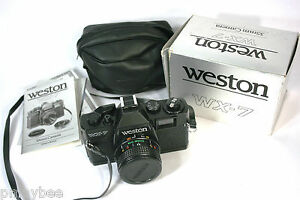WESTON-WX-7-VINTAGE-35mm-CAMERA-PERFECT-CONDITION-in-Box-w-Case-Instructions