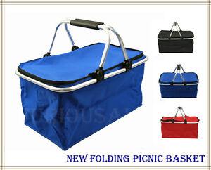 New-light-folding-aluminum-cooler-picnic-tote-basket-waterproof-outdoor-camping