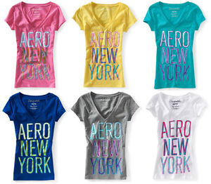 Aeropostale-V-Neck-T-Shirt-Womens-Junior-Sizes-S-M-L-XL-NWT