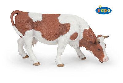 Grasende Simmental Kuh 14 cm Bauernhoftiere Papo 51147