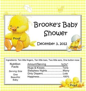 details about 15 duck baby shower candy bar wrappers