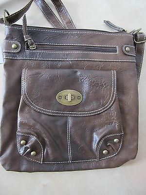 Schultertasche Cross-Over Tasche braun Handtasche Koffer Primark Kunst-Leder NEU