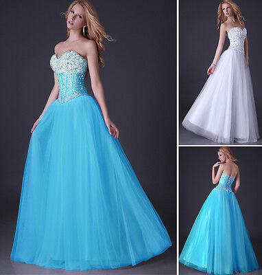 2014 STOCK Beaded Chiffon Bridesmaid Long Formal Evening Party Prom Gown Dresses