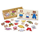 Wooden Bear Family Dress-Up Puzzle - 45pc Contour Frame Puzzle By Melissa and Doug
