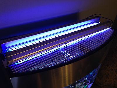 "Aquarium Reef LED Light Bar 12"" inch 3W LEDs 453 nm Actinic Blue Coral POP Grow"