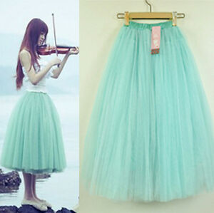 Stylish-Womens-Knee-Length-Tutu-Princess-Skirt-Petticoat-Mini-Dress-5-Layers-Hot