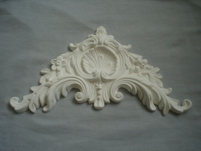 VERY ORNATE FRENCH BED PEDIMENT SILICONE RUBBER MOULD