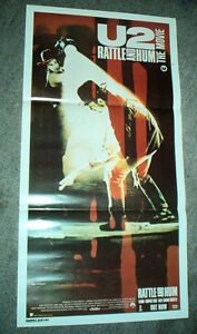 U2-RARE-Rattle-Hum-Original-Australian-CINEMA-DAYBILL-MOVIE-POSTER