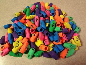 Lot-of-144-Pencil-Cap-Erasers-Funny-Face-Bulk-School-Office-Supply-Wholesale