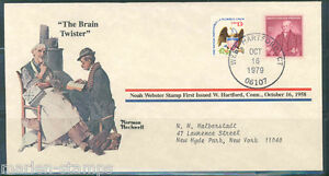 "UNITED STATES NORMAN ROCKWELL SPECIAL COVER ""THE BRAIN TWISTER"" AS SHOWN"