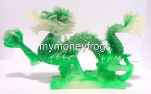 Green Jade FENG SHUI Oriental Chinese Water Dragon Year Protection Figurine #GlJ