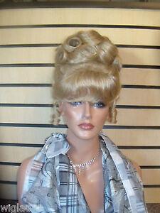 Disney Updo Wigs Disney Cinderella Princess Style Soft Smooth Curls Bangs Sweet Ebay