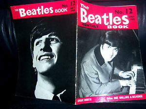 ORIGINAL-1964-THE-BEATLES-Monthly-Book-No-12-NEAR-MINT-FAB-32-PAGES-BRILLIANT