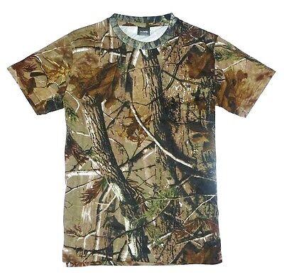 HUNTERS T-SHIRT Mens S-XXL oak tree camo tee cotton fishing hunting shooting top